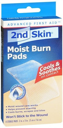 2nd Skin Moist Burn Pads 2x3 Inches - 4 ea