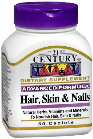 21st Century Hair, Skin and Nails Caplets - 50 caps