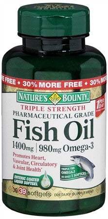 Nature's Bounty Fish Oil 1400 mg Softgels Triple Strength - 39 caps