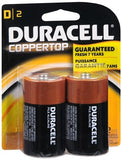 Duracell Coppertop D Alkaline Batteries 1.5 V - 2 ea