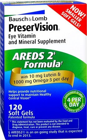 Bausch & Lomb PreserVision AREDS 2 Formula Soft Gels - 120 caps