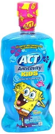 ACT Kids Anticavity Fluoride Rinse Ocean Berry - 16.9 oz