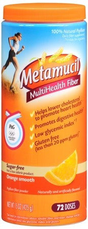 Metamucil MultiHealth Fiber Sugar-Free Orange Smooth - 15 oz
