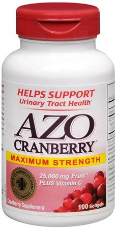 Azo Cranberry Urinary Tract Health Softgels - 100 caps