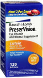 Bausch + Lomb PreserVision Lutein Softgels - 120 caps