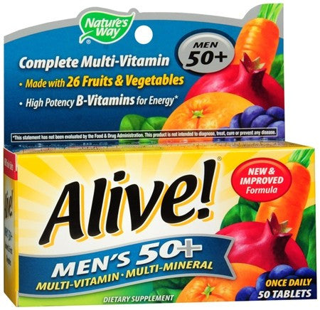 Nature's Way Alive! Men's 50+ Multivitamin/Multimineral Tablets - 50 tabs