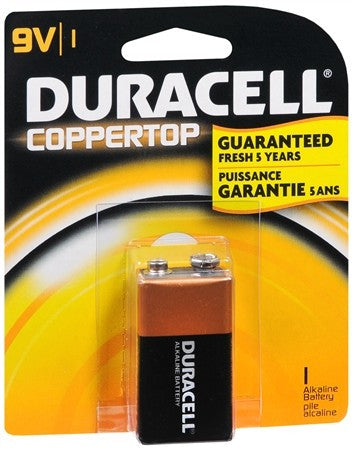 Duracell Coppertop 9V Alkaline Battery - 1 ea