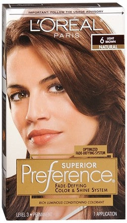 L'Oreal Superior Preference - 6 Light Brown (Natural) - 1 ea