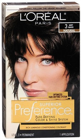 L'Oreal Superior Preference - 3 Soft Black (Natural) - 1 ea