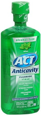 ACT Anticavity Fluoride Mouthwash Mint - 18 oz