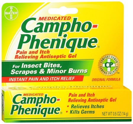 Campho-Phenique Pain and Itch Relieving Antiseptic Gel - 0.5 oz