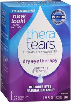 TheraTears Lubricant Eye Drops Single-Use Containers - 32 ea