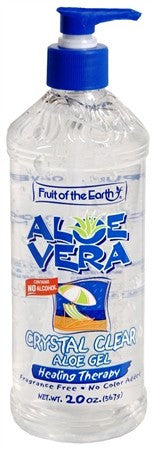Fruit of the Earth Aloe Vera Crystal Clear Aloe Gel - 20 oz