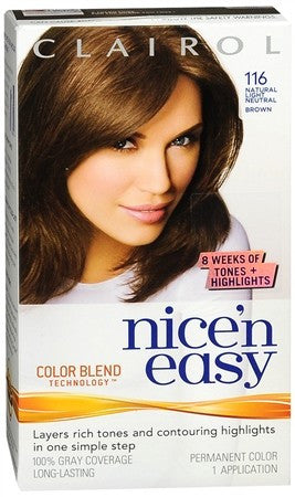 Clairol Nice 'n Easy Hair Color 116 Natural Light Neutral Brown - 1 ea