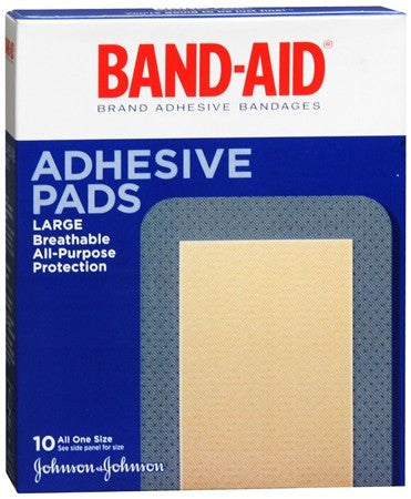 BAND-AID Adhesive Pads All One Size - 10 ea