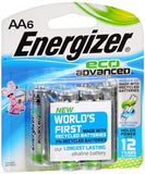 Energizer Eco Advanced Alkaline Batteries AA - 6 ea