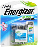 Energizer Eco Advanced Alkaline Batteries AAA - 6 ea