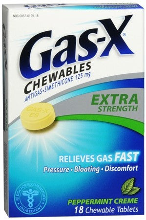 Gas-X Chewables Extra Strength Peppermint Creme - 18 tabs