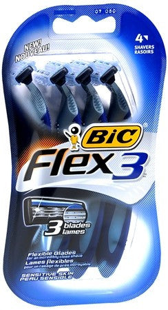 Bic Flex 3 Disposable Shavers Sensitive Skin - 4 ea