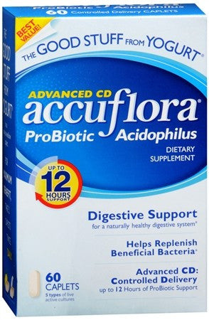 AccuFlora Advanced CD Pro-Biotic Acidophilus Caplets - 60 caps