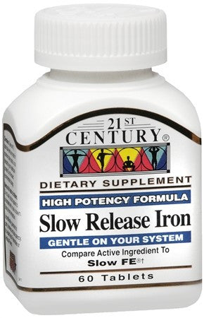 21st Century Slow Release Iron Tablets - 60 tabs