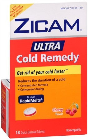 Zicam Ultra Cold Remedy RapidMelts Cherry - 18 ea