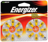 Energizer Zero Mercury Hear Aid Batteries AZ10DP-16 - 16 ea