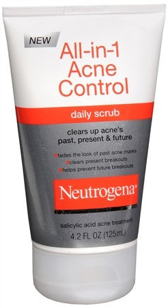 Neutrogena All-in-1 Acne Control Daily Scrub - 4.2 oz
