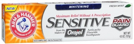 ARM & HAMMER Sensitive Whitening Toothpaste Frosted Mint - 4.5 oz