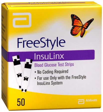FreeStyle InsuLinx Blood Glucose Test Strips - 50 ea