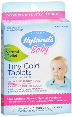 Hyland's Baby Tiny Cold Tablets - 125 tabs