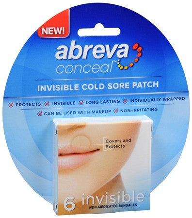 Abreva Conceal Invisible Cold Sore Patches - 6 ea