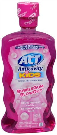 ACT Kids Anticavity Fluoride Rinse Bubblegum Blowout - 16.9 oz