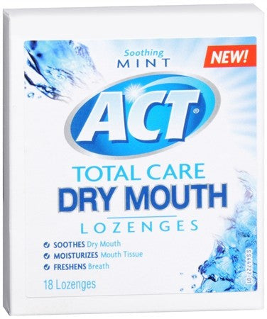 ACT Dry Mouth Lozenges Mint - 18 ea