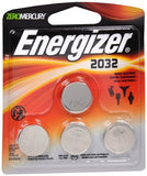 Energizer Zero Mercury 3 V cc Lithium Batteries 2032BP-4 - 4 ea