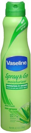 Vaseline Spray & Go Moisturizer Aloe Fresh - 6.5 oz