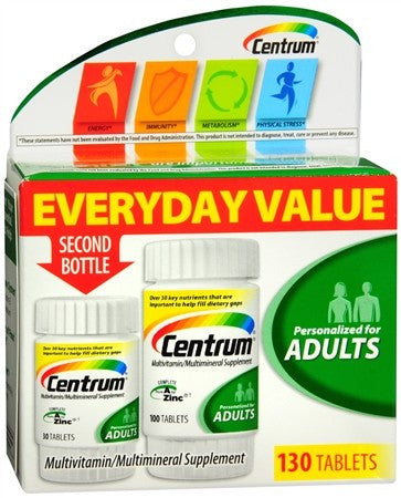 Centrum Adults Multivitamin/Multimineral Supplement Tablets - 130 tabs