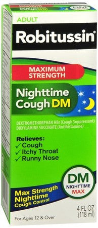 Robitussin Adult Nighttime Cough DM Liquid - 4 oz
