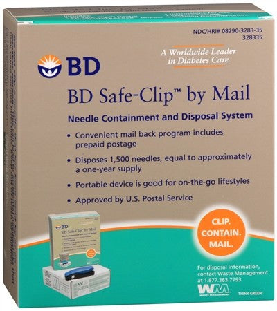 BD Safe-Clip by Mail Needle Containment and Disposal System - 1 ea