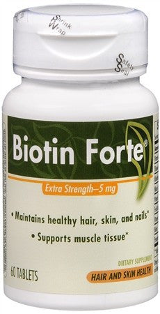 Enzymatic Therapy Biotin Forte 5 mg Tablets - 60 tabs