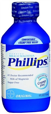 Phillips' Milk of Magnesia Saline Laxative Liquid Original - 4 oz