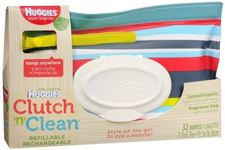 Huggies Clutch N Clean Natural Care Baby Wipes - 32 ea