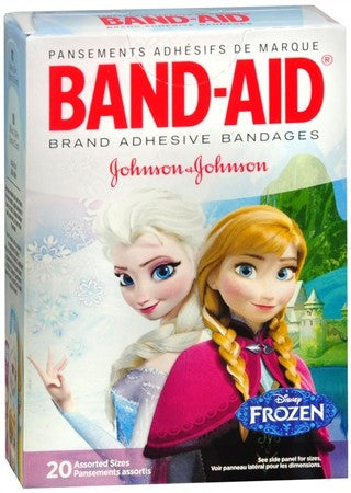 BAND-AID Adhesive Bandages Disney Frozen Assorted Sizes - 20 ea
