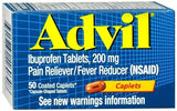 Advil Ibuprofen Pain Reliever/Fever Reducer Caplets - 50 caps