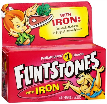 Flintstones Children's Multivitamin Supplement with Iron TastiSmooth Chewable Tablets Assorted Flavors - 60 tabs