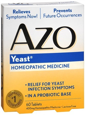 Azo Yeast Homeopathic Medicine Tablets - 60 tabs
