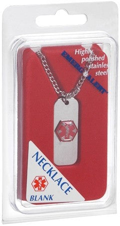 EMERG ALERT Necklace Blank - 1 ea