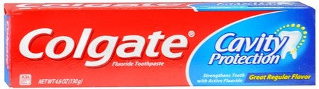 Colgate Cavity Protection Fluoride Toothpaste Regular Flavor - 4 oz