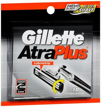 Gillette AtraPlus Cartridges - 10 ea