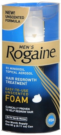 Rogaine Men's Hair Regrowth Treatment Foam Unscented - 2.11 oz